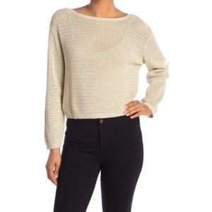 RDI Open chunky Knit Boatneck Sweater Large NWT